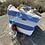 Bill Brown blue stripe beach bag