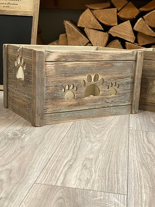 dog crate toy box wooden