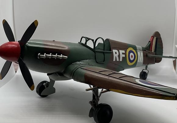 Spitfire lifelike tin model