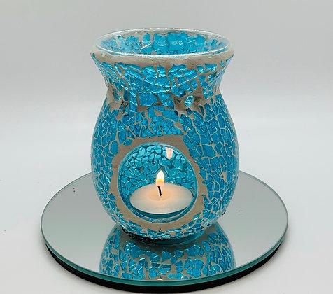 Mosaic turquoise wax melt & oil warmer