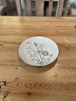 Wild flower side plate