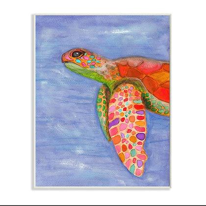 Rainbow turtle swimming