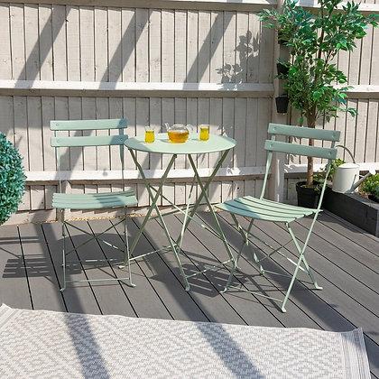 Classic sage green 3 piece patio set
