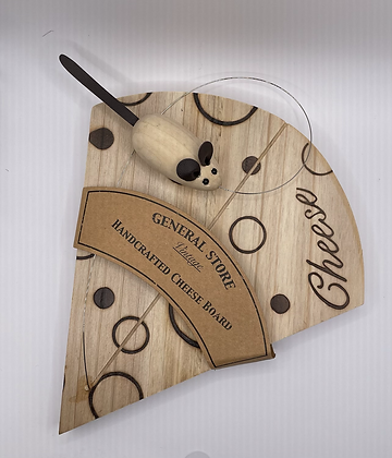 Handcrafted wooden cheese board
