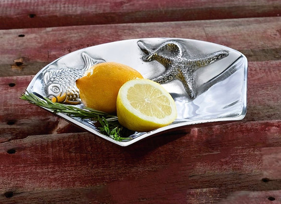 Aluminium Fish and starfish side bowl, great for snacks