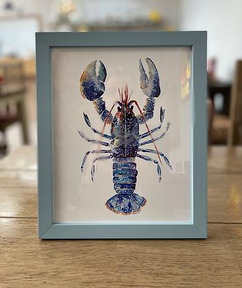 "Framed 10"" by 8"" lobster print"