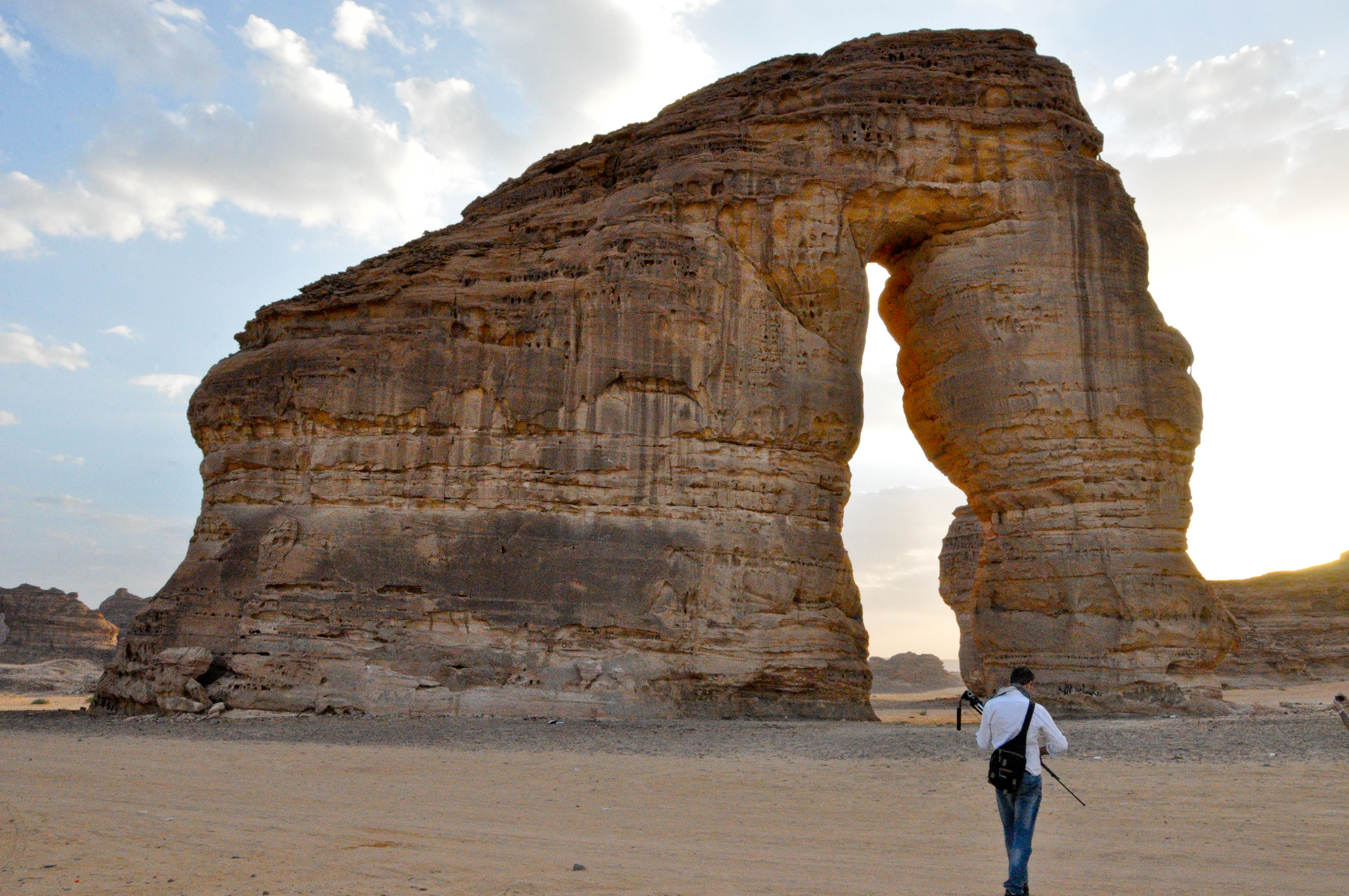 Elephant Rock is located 7 km East of Al-Ula. It is a huge natural rock formatio