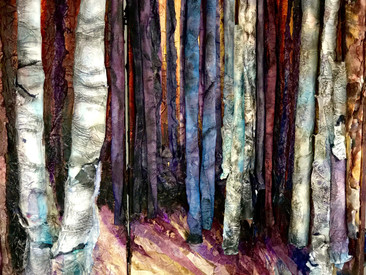 Birch Forest Tryptych