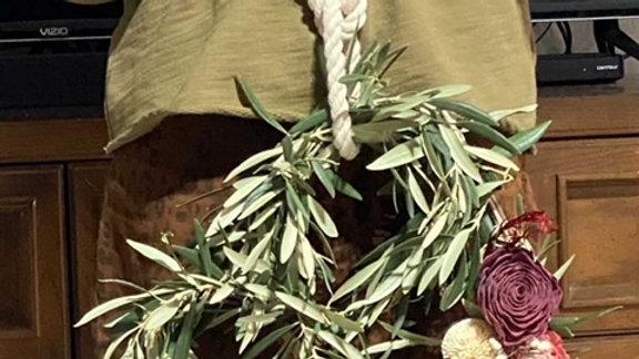 Saturday, January 9,  Heart Wreath Make & Take Class