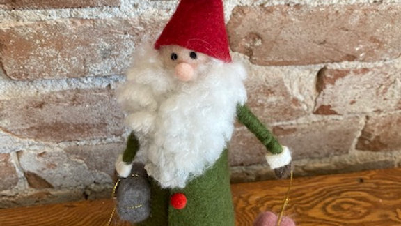 Felted Wool Santa With Presents