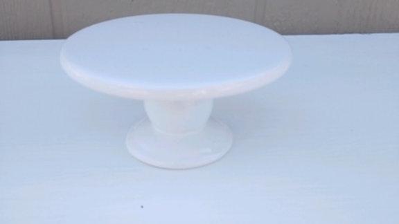 """Farmhouse 2 1/2"""" Tall White Ceramic Pedestal"""