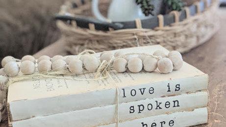 """love is spoken here"" book bundle"