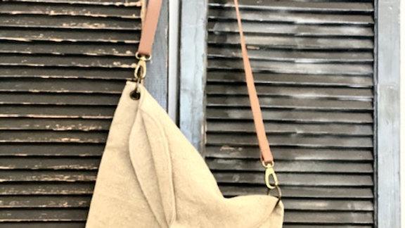 Vintage Addiction European Style Linen Market Bag