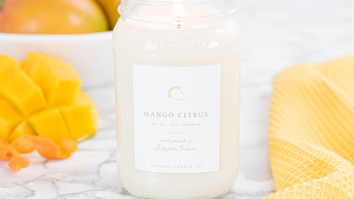 Antique Candle Co. 16oz Mango Citrus Soy Candle