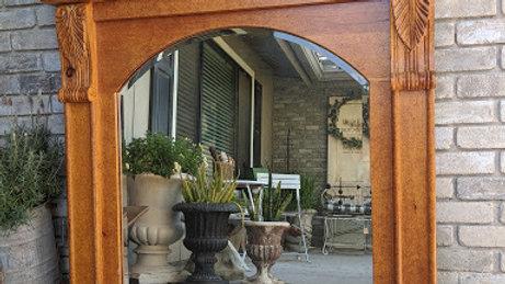 Large Oak Mirror Mantle