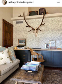 Gorgeous room using our vintage desk chair.