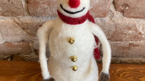 "12"" Felted Wool Snowman"