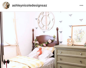 Ashley found this watercolor at our market to add the finishing touch to this room makeover.