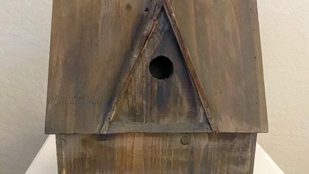 Wood Cottage Birdhouse