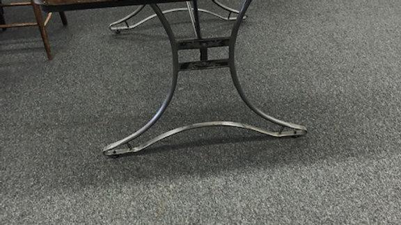 Metal and Natural Wood Table