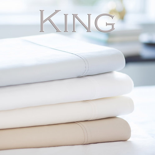 Cotton Luxury Blend 600TC Sheets by Malouf Fine Linens - King