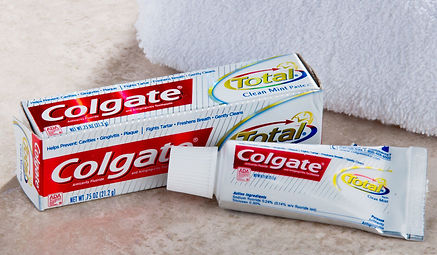 guest toothpaste airbnb travel size hotel
