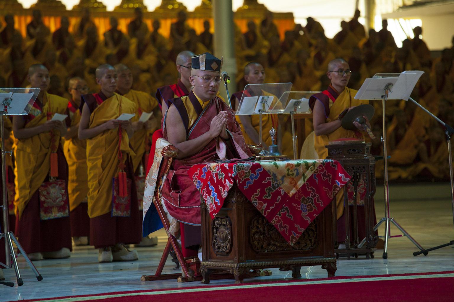 Ceremon de Karmapa(Kagyu Monlam)
