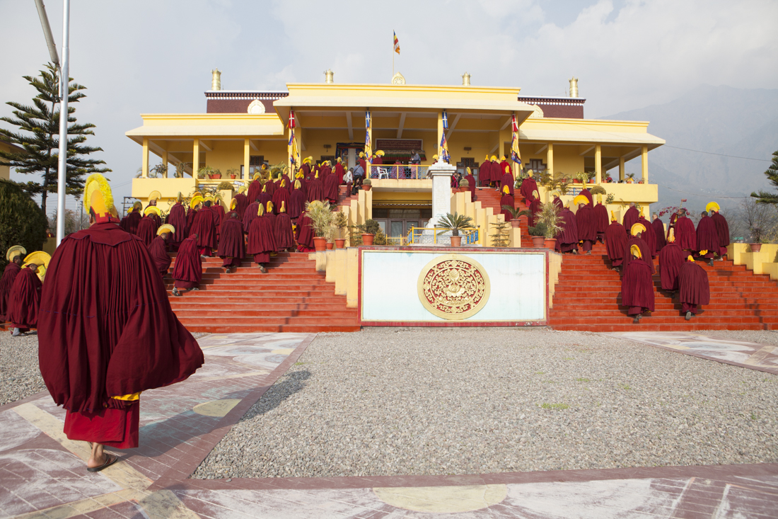 Ceremonia en el Monasterio de Gyuto