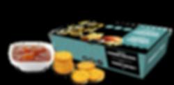 Indulge Cheddar Crackers with Mango Chutney