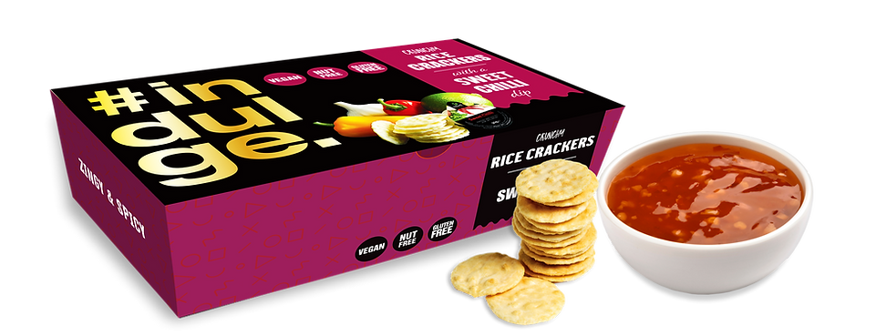 Indulge Rice Crackers with Sweet Chilli