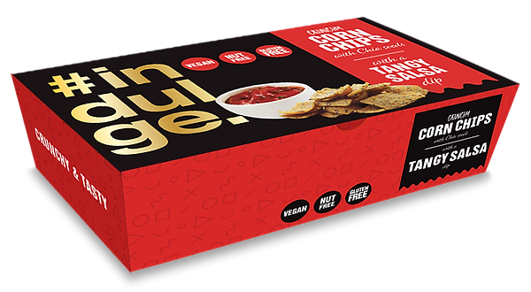Indulge Corn Chips with Salsa box