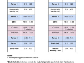 SY21-22 New Bell Schedule