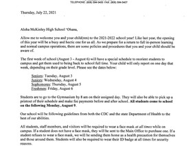 Parent Letter SY 21-22 Opening Letter