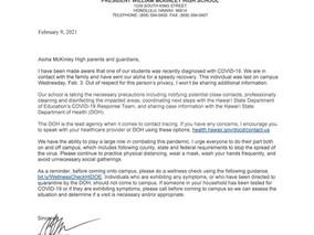 COVID Parent Letter