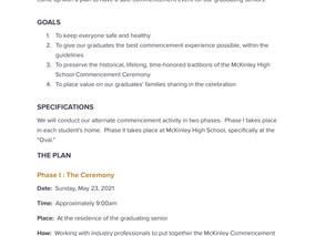 McKinley High School Commencement 2021