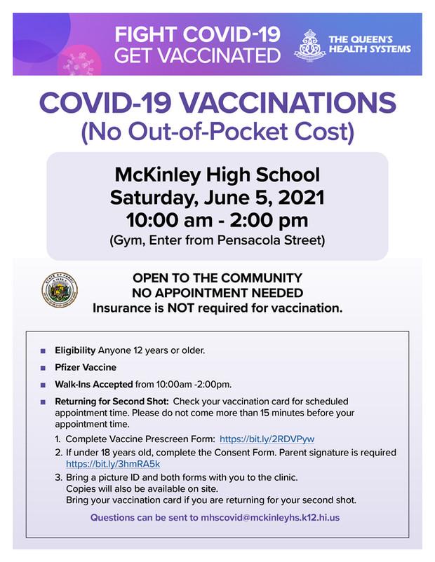 McKinley COVID Clinic - June 5, 2021