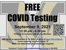Free COVID Testing - September 9