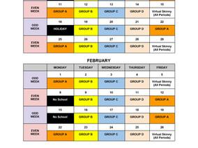 Semester 2 Calendar & Bell Schedule