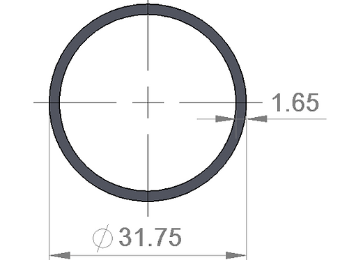 AISI 4130 TUBE _ OD 31.75 X 1.65 MM ( 1 METER )
