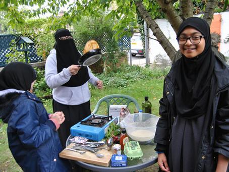 Cooking in the garden October 2020