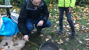 Making fire in the garden October 2020