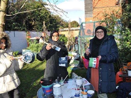 Painting-pots-JBCG-Gardening-Club-5th-De