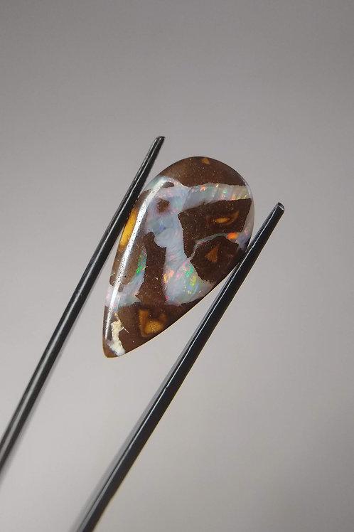 Multicoloured Striped Matrix Boulder Opal