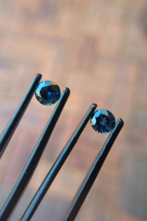 Blue Brilliant Sapphire Pair