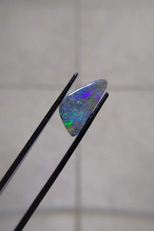 Blue/Multicolour Triangle Boulder Opal