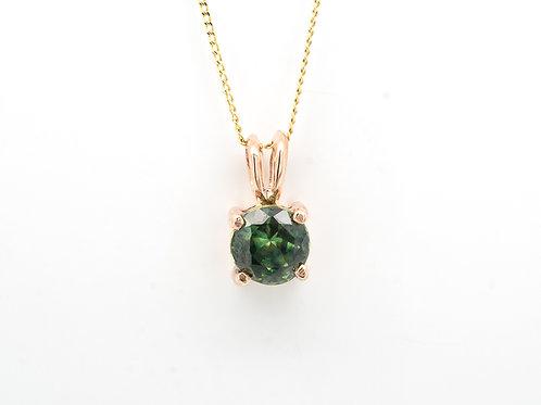 Green Brilliant Sapphire Pendant