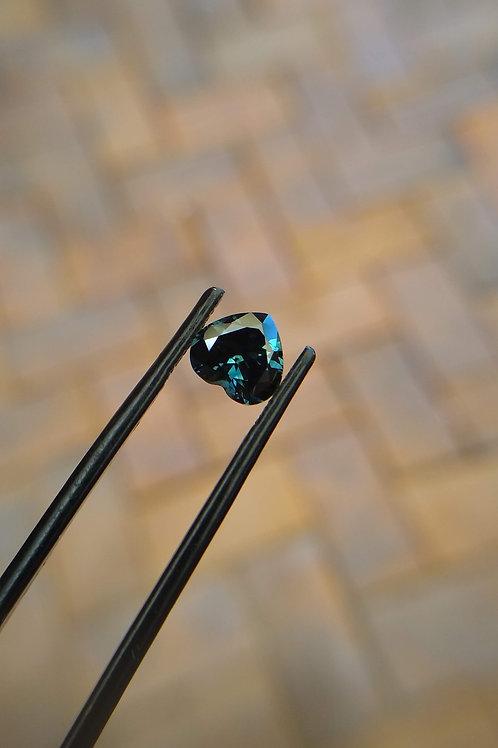 Blue Green Heart Sapphire