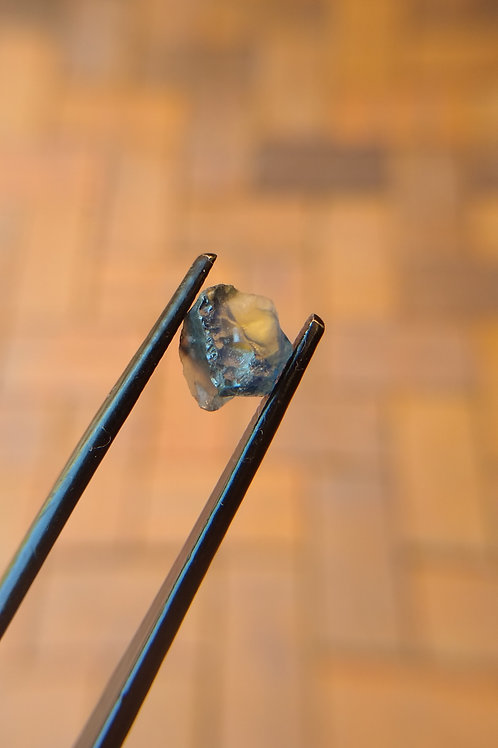 Blue/Yellow Flat-backed Rough Sapphire