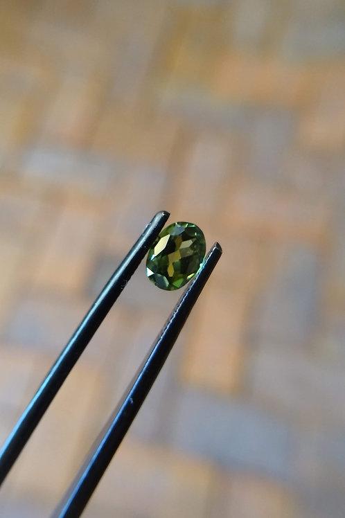 Green/Yellow Oval Sapphire