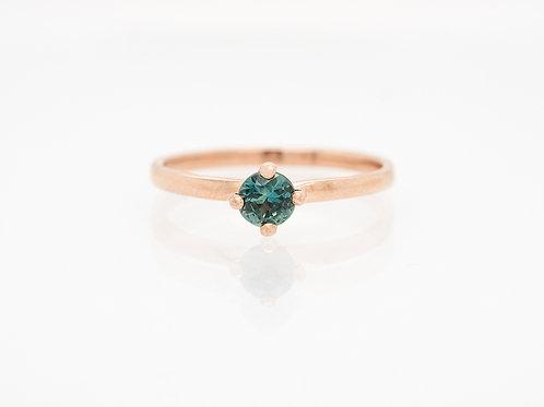 Pale Blue Brilliant Solitare Sapphire Ring